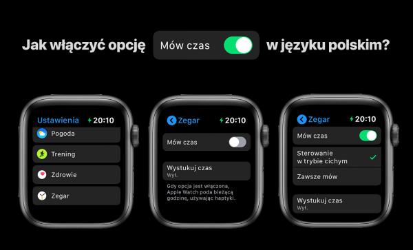 Siri na Apple Watchu mówi po polsku, która jest godzina!