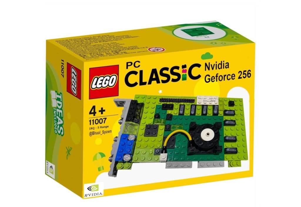 Nvidia GForce 256 jako zestaw LEGO PC Classic