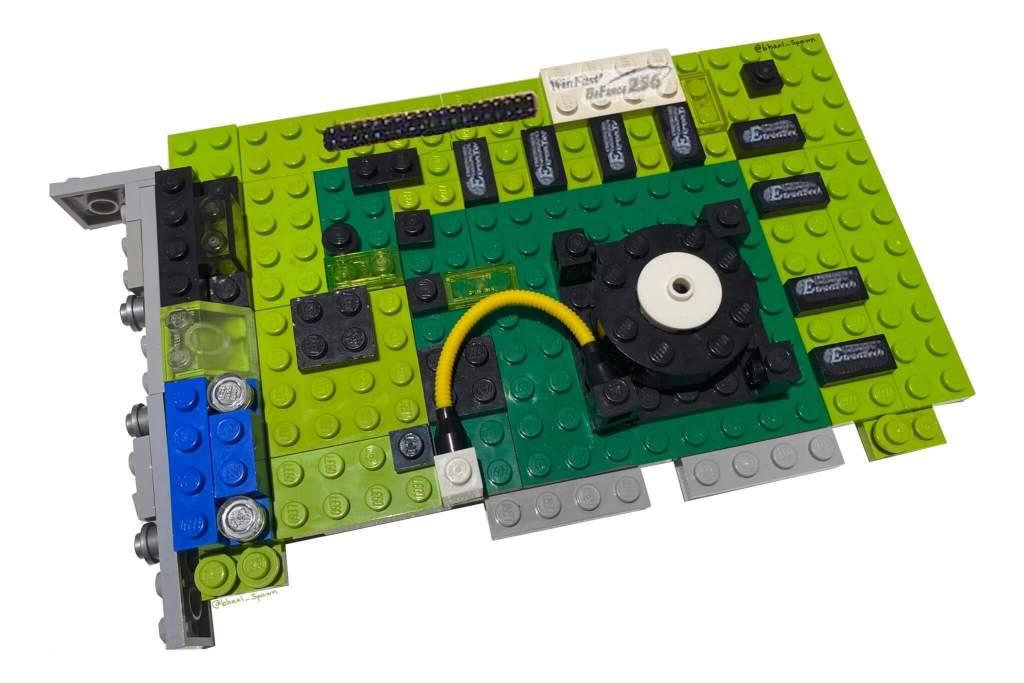 Nvidia GForce 256 jako zestaw LEGO PC Classic od Bhaal_Spawn