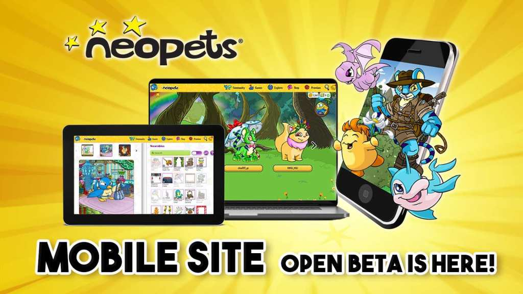 "Mobilna wersja beta gry online ""Neopets"""