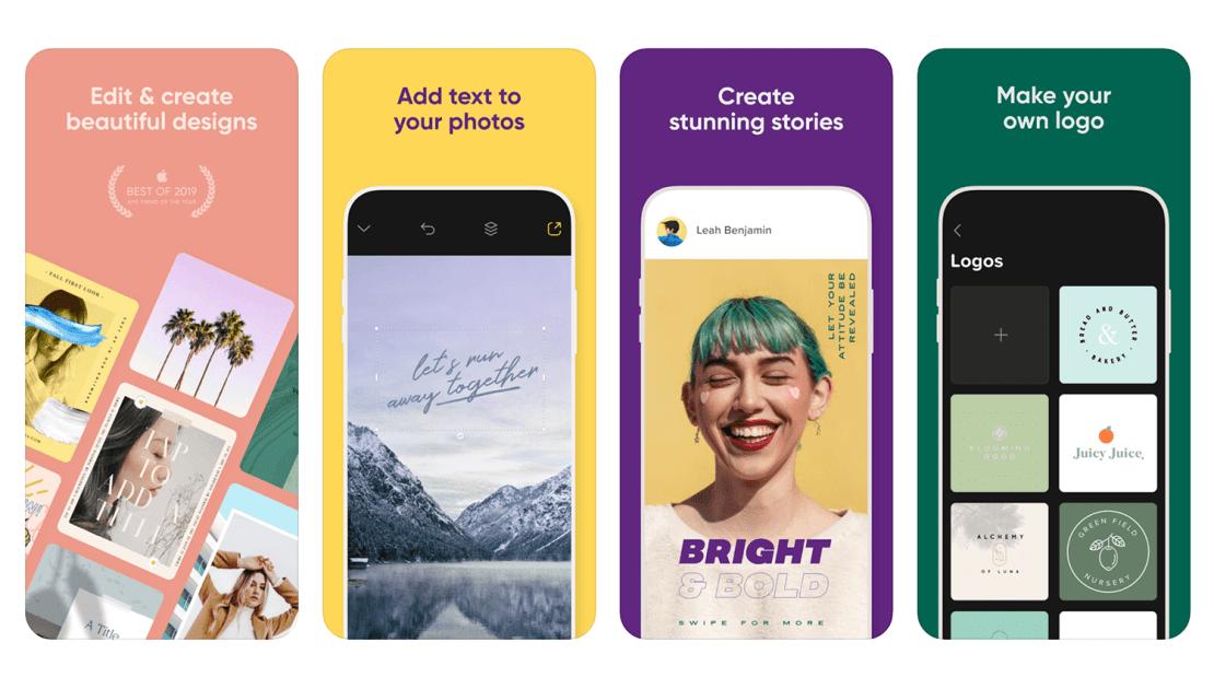 Aplikacja mobilna: Over: Add Text to Photos & Graphic Design Maker