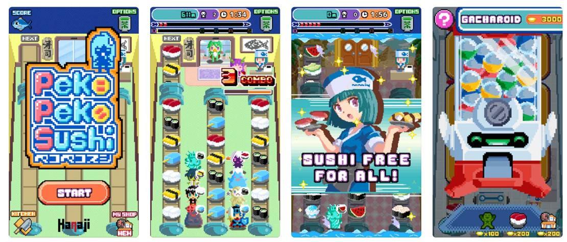 Zrzut ekranu z gry: Peko Peko Sushi