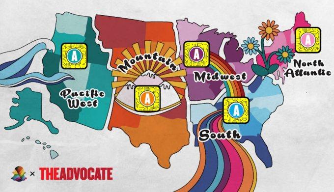 Soczewki z serii Pride Month w aplikacji Snapchat (2020, The Advocate)