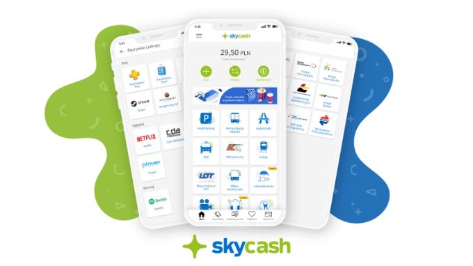 Nowa odsłona aplikacji SkyCash - zrzuty ekranu (lipiec 2020)
