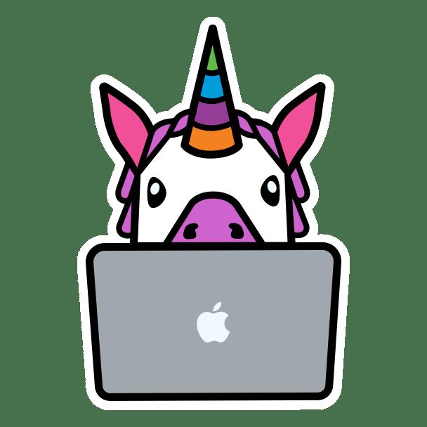 WWDC20 sticker unicorn