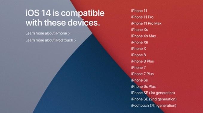 Modele iPhone'ów zgodnych z systemem iOS 14