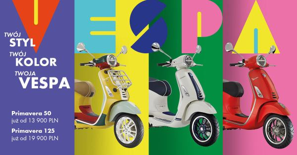 Kolorowa Vespa Primavera lub elektryzująca Elettrica – sprawdź ceny skuterów na 2020 rok