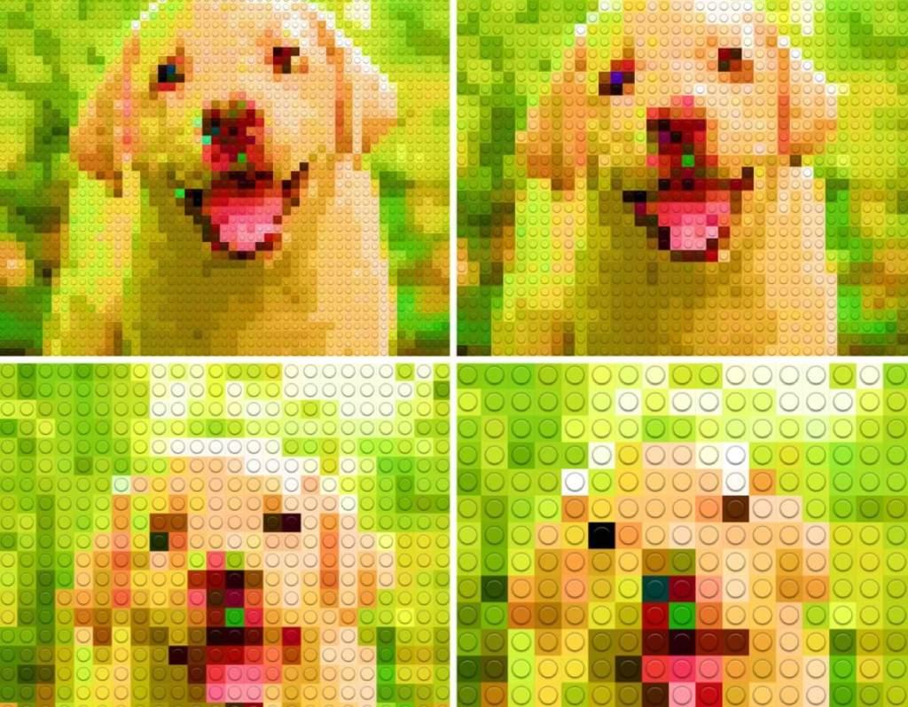 Zdjęcia przekształcone w Bricks Camera