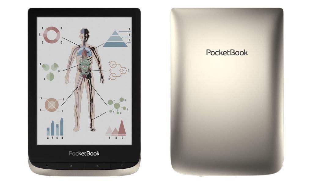 PocketBook Color (widok czytnika z przodu i z tyłu)
