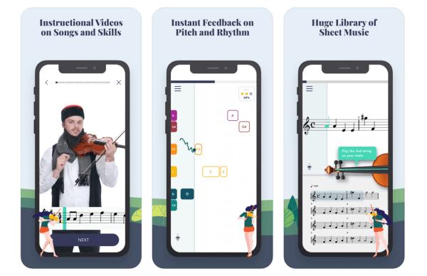 Aplikacja Trala do nauki gry na skrzypcach!