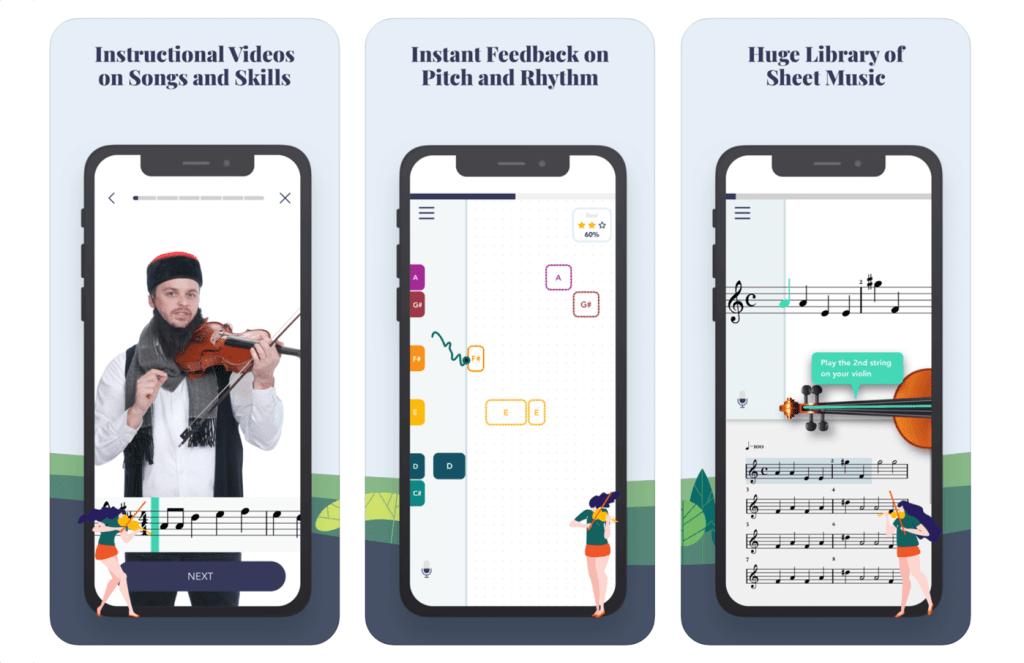 Aplikacja Trala – Learn Violin do nauki gry na skrzypcach