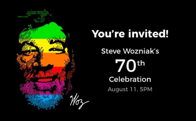"""Zaproszenie na 70. urodziny Steve'a """"Woza"""" Wozniaka"""