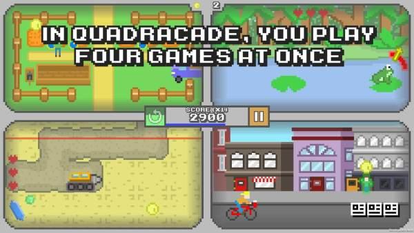 Quadracade – 4 zręcznościówki na jednym ekranie