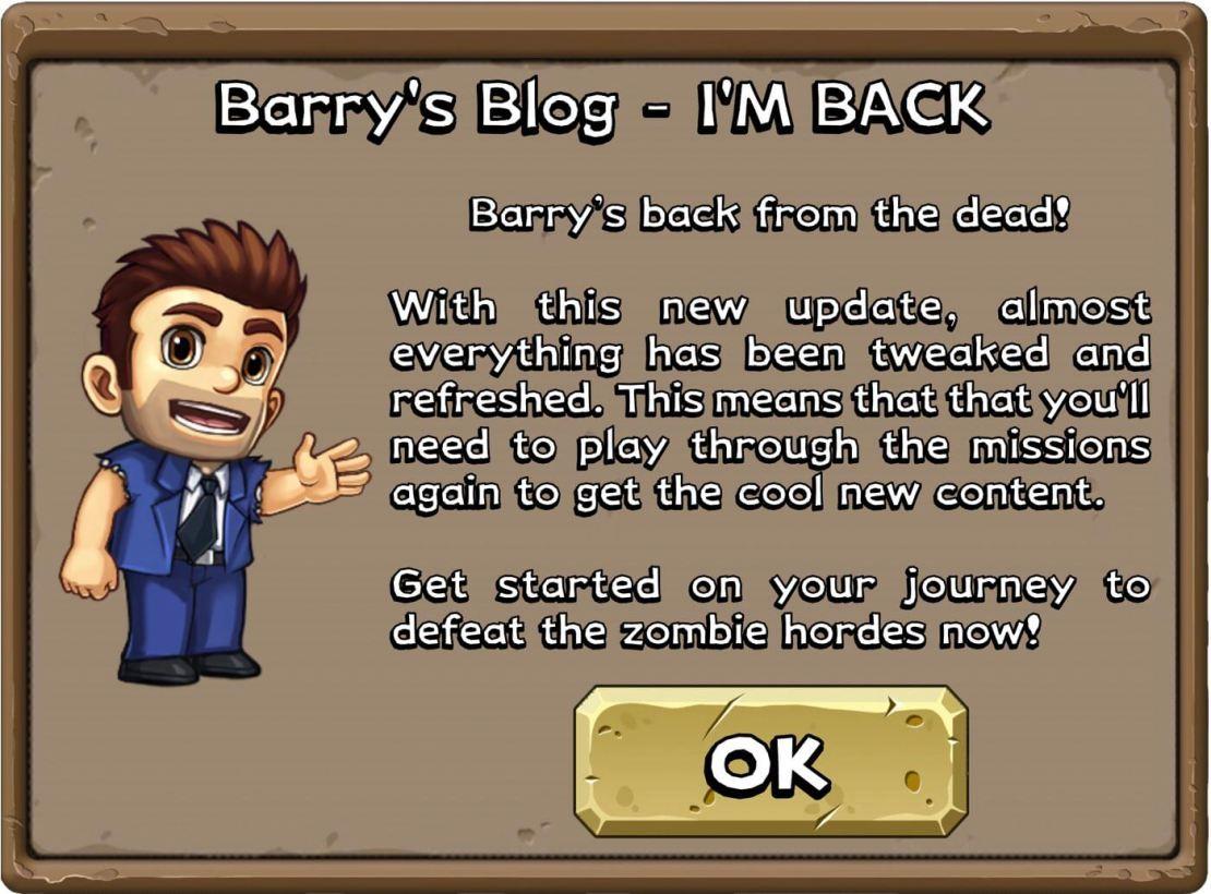 """Screen z informacją ze zremasterowanej gry """"Monster Dash"""" zaraz po uruchomieniu."""