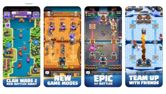 Clash Royale z Clan Wars 2.0 (zrzuty ekranu z gry mobilnej)