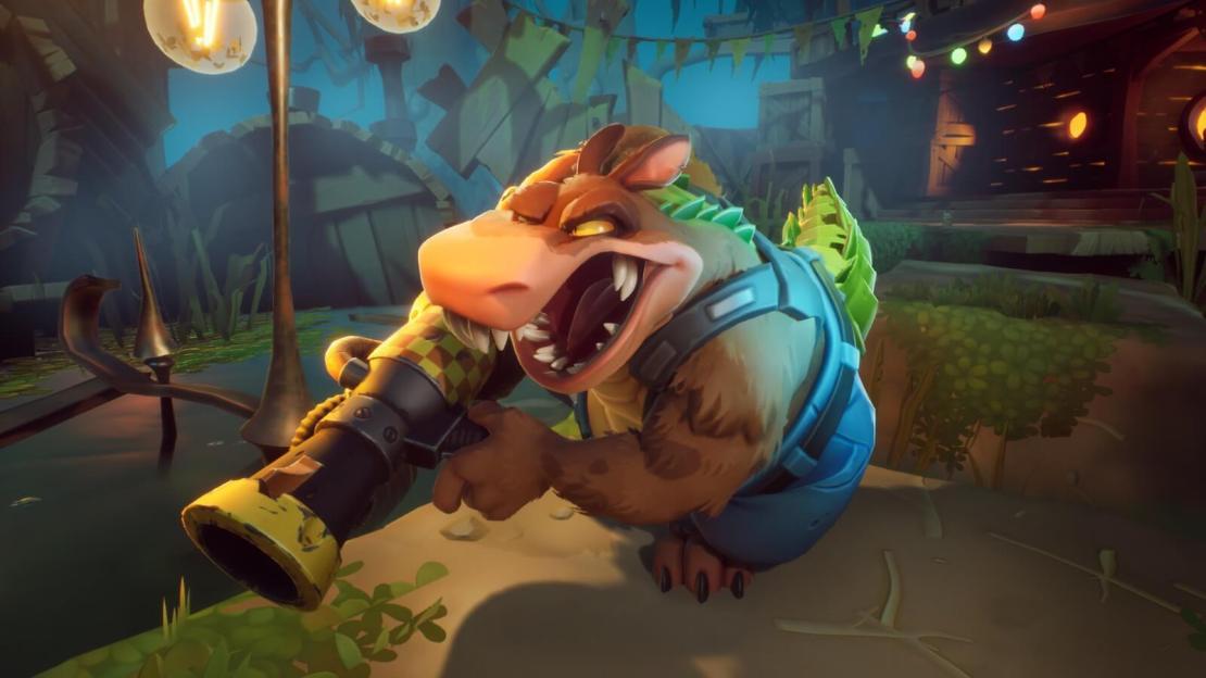 Grywalna postać Dingodile'a w Crash Bandicoot 4: Najwyższy czas!