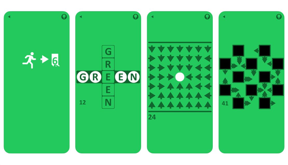 Zrzuty ekranu z gry mobilnej Green (Game)
