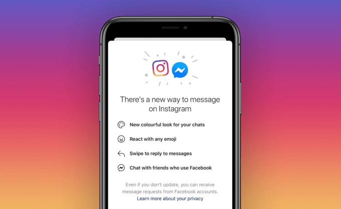 Połączone czaty Instagrama i Messengera