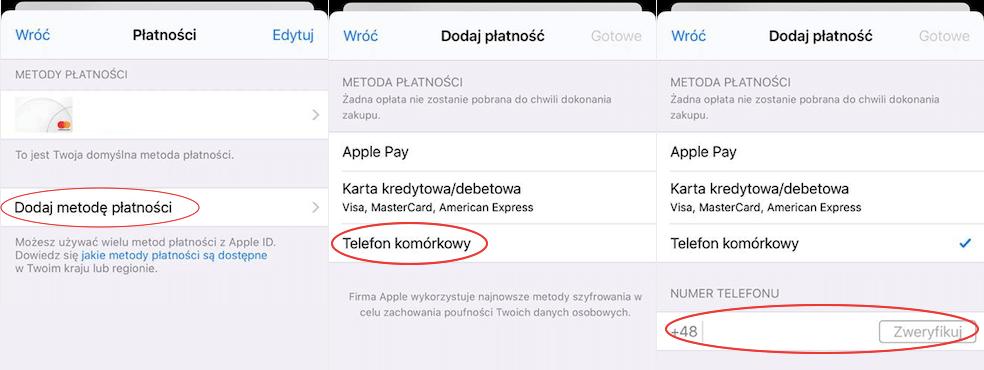 Jak ustawić płatność numerem telefonu w App Storze?