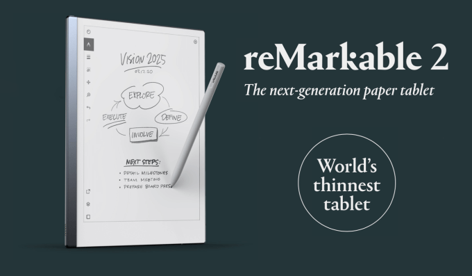 reMarkable 2 - najcieńszy tablet z e-papierem na świecie