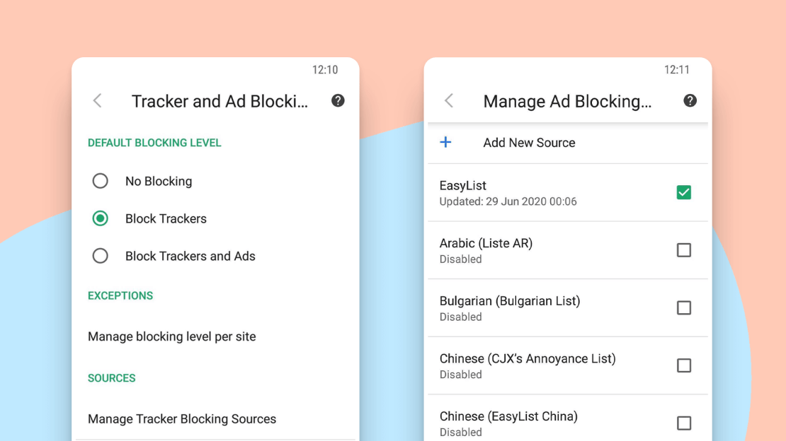 Vivaldi Browser 3.2 - bloker trackerów i reklam