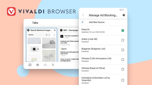 Nowa wersja przeglądarki Vivaldi 3.2 na Androida