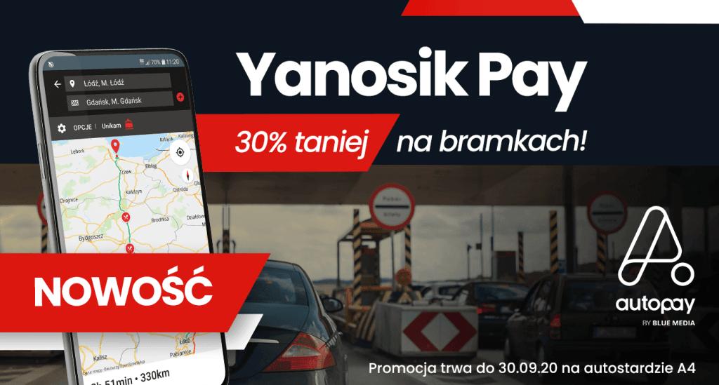 Yanosik Pay na bramkach autostrad w Polsce