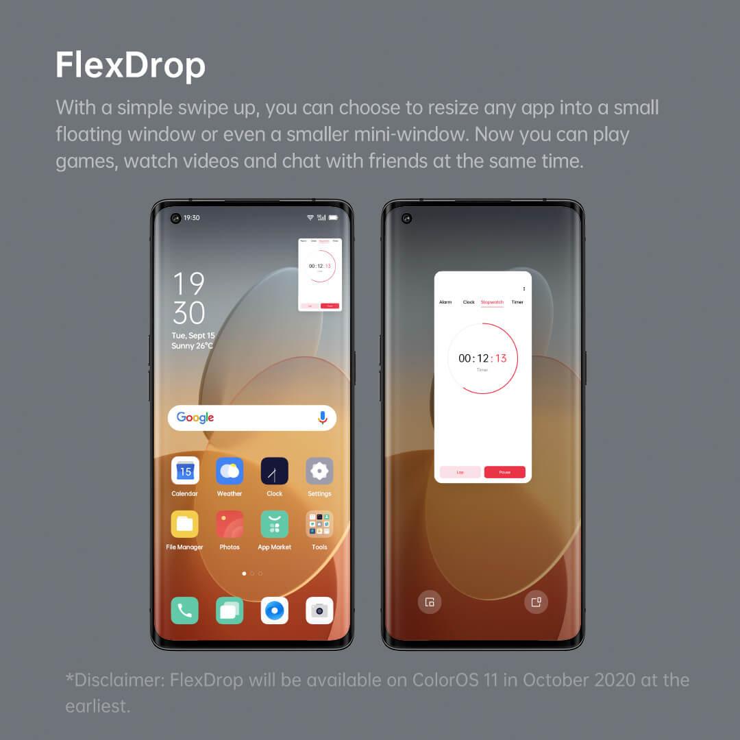 ColorOS 11 – Flex Drop