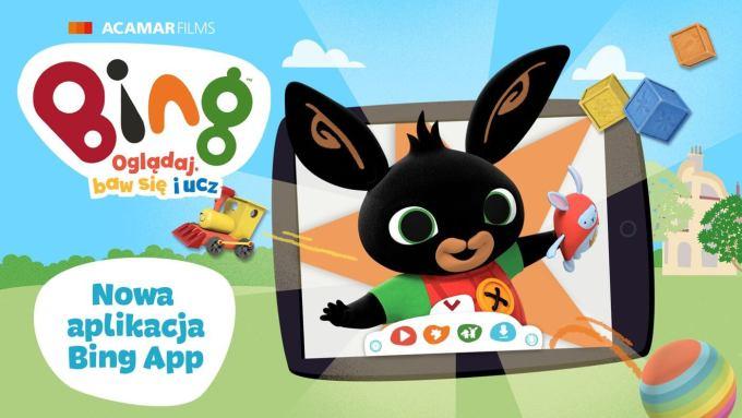 """Aplikacja mobilna """"Bing: Oglądaj, baw się i ucz"""""""