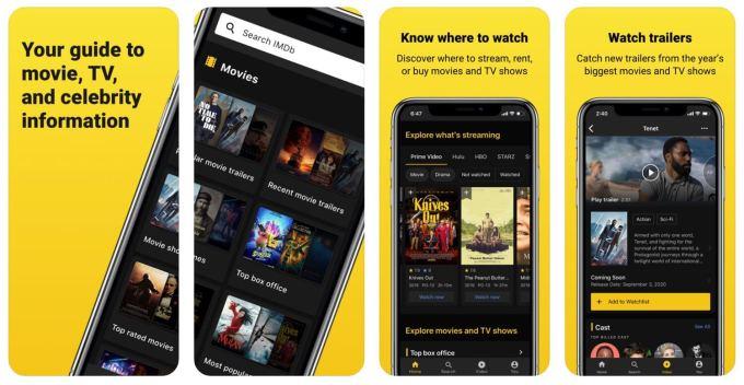 IMDb - aplikacja mobilna zrzut ekranu