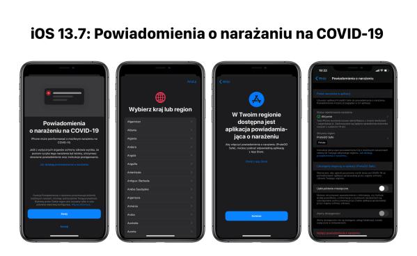 Pobierz iOS 13.7 z powiadomieniami o narażeniach na COVID-19