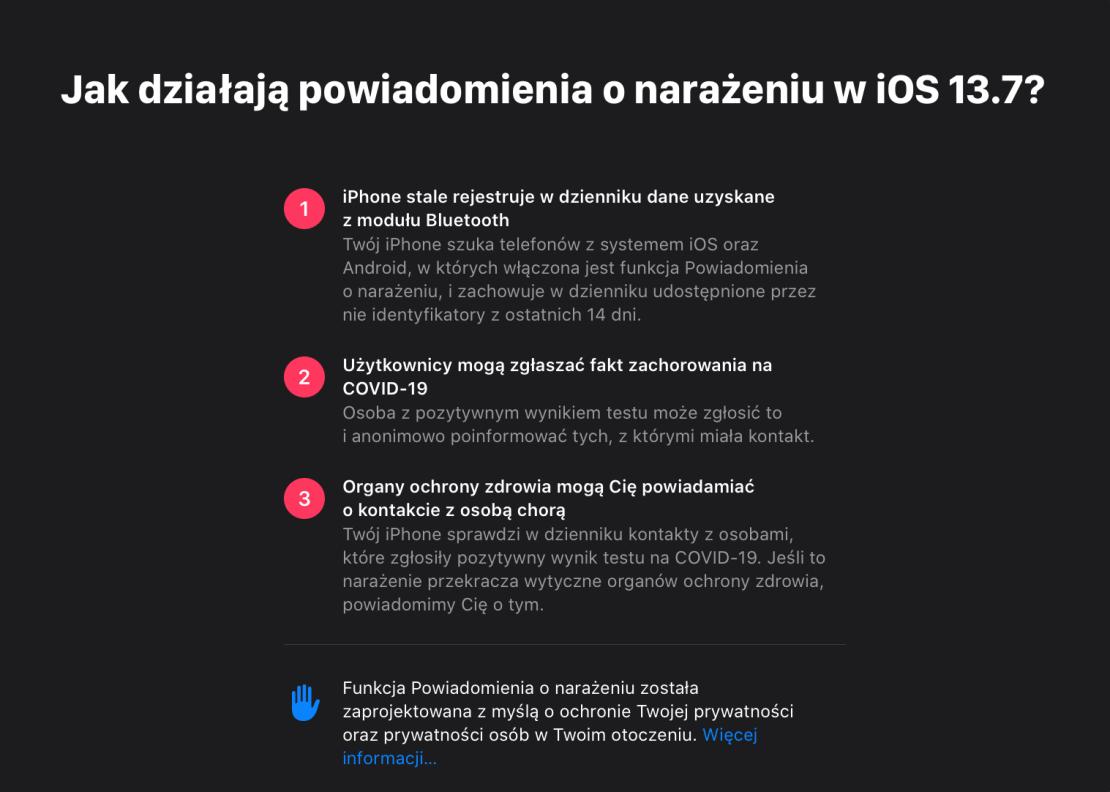 Jak działają powiadomienia o narażeniu na COVID-19 w iOS 13.7?