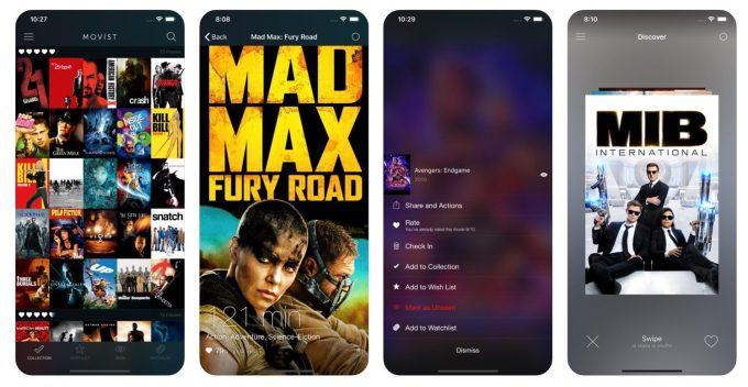 Movist app screen