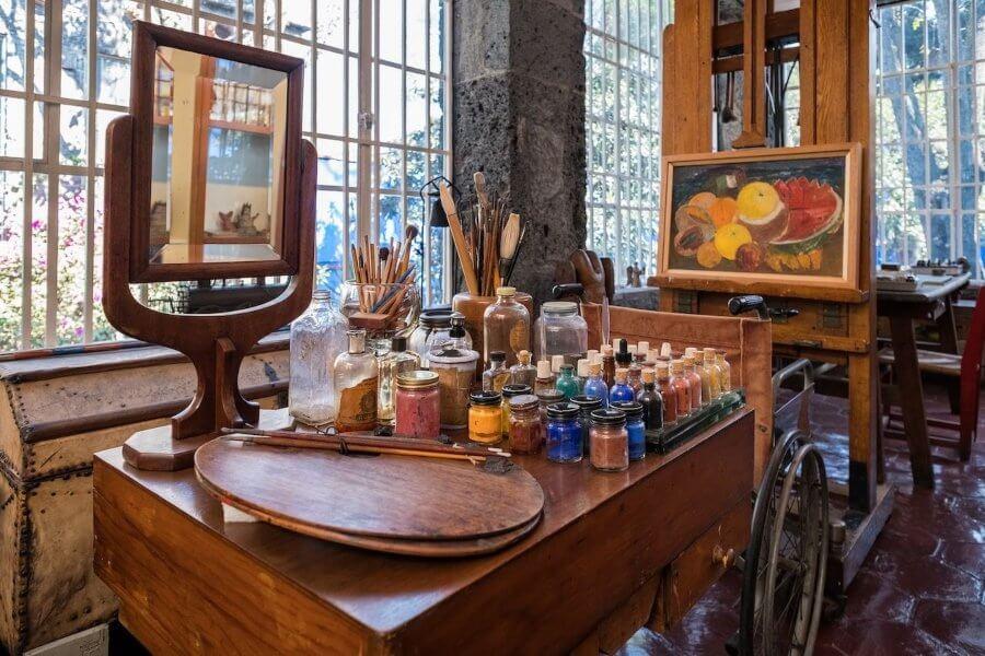 Museo Frida Kahlo – La Casa Azul (Błękitny Dom) - pracownia