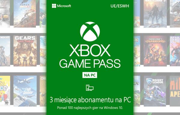 Xbox Game Pass na PC w formacie 3-mies. dostępu