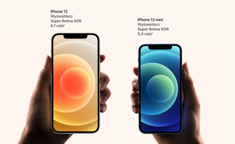 iPhone 12 i iPhone 12 mini (w dłoni) v.1