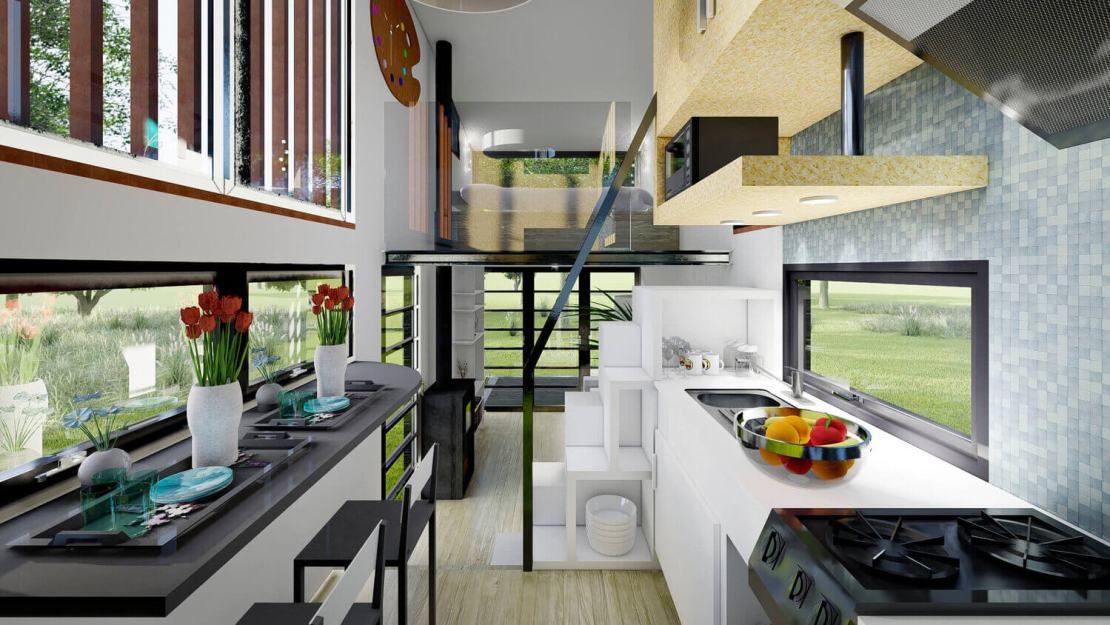Kuchnia w Natura (Tiny Housing)