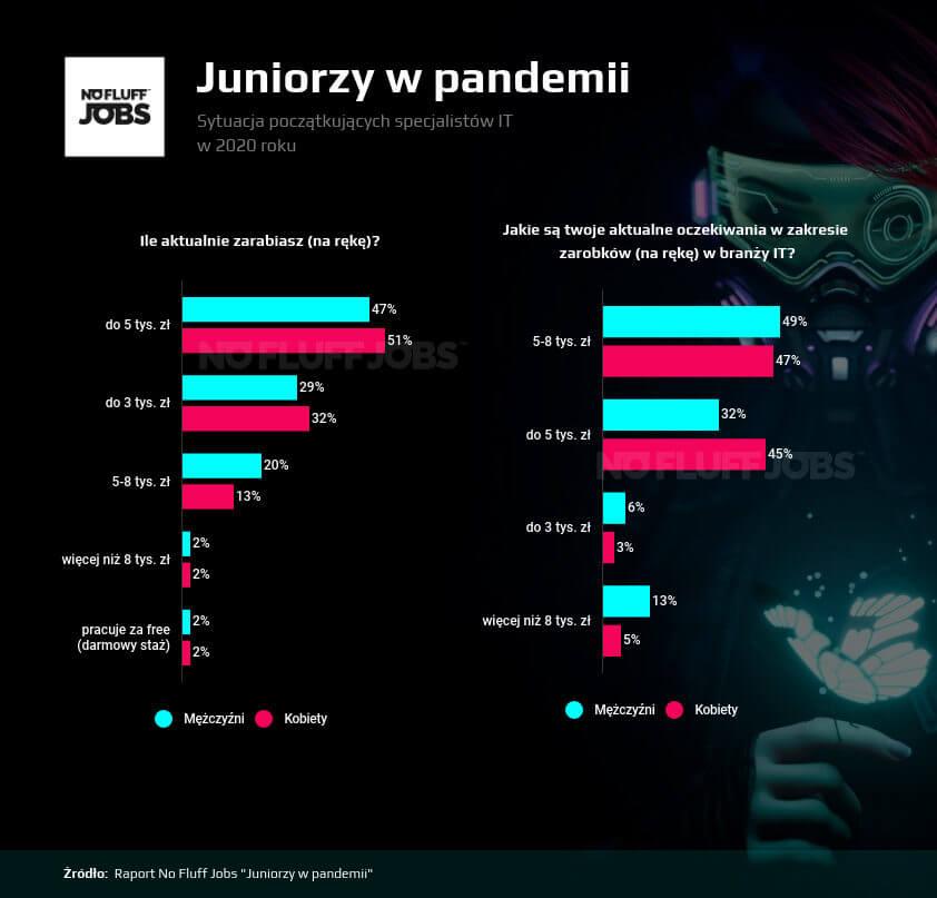 Raport Juniorzy IT – aktualne zarobki a oczekiwane (2020 r.)