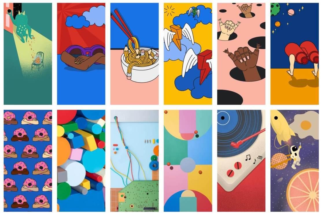 Podgląd 12 oficjalnych tapet telefonu Google Pixel 5