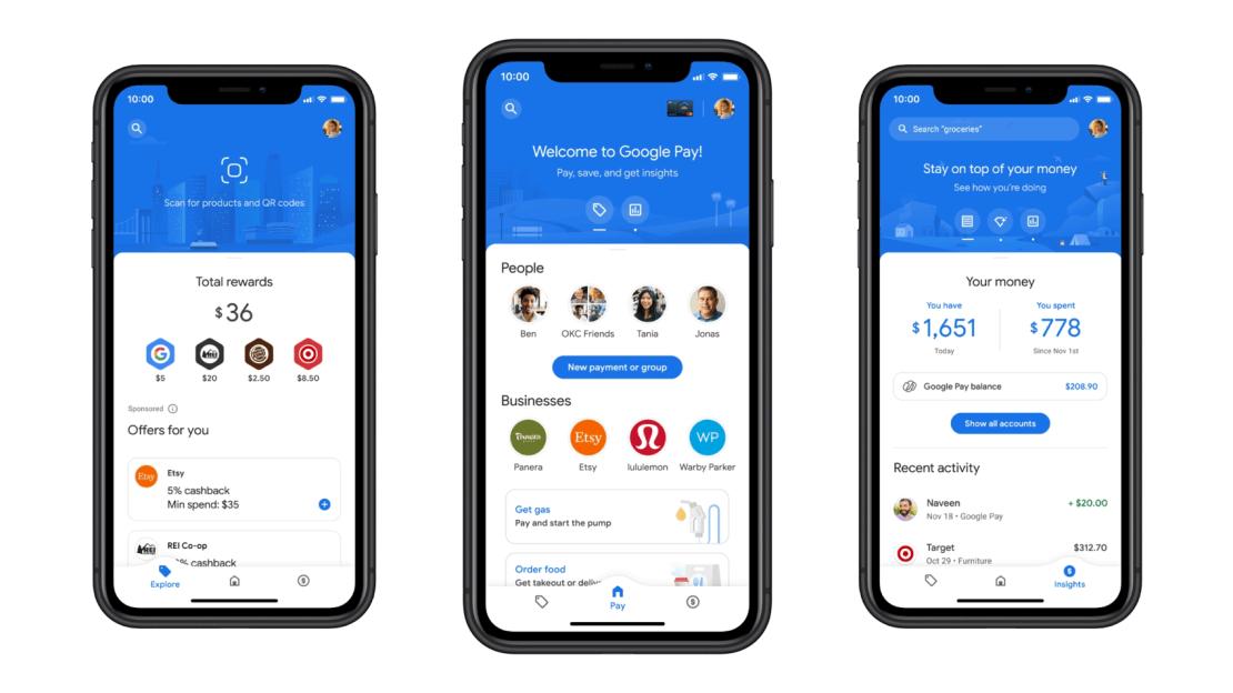 3 nowe zakładki (funkcje) w aplikacji Google Pay