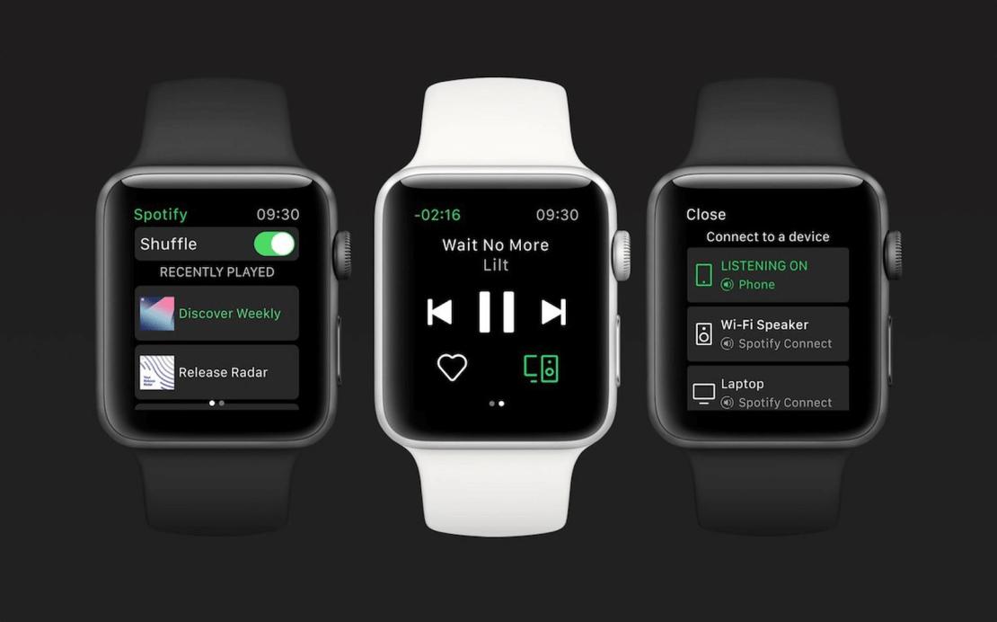 Aplikacja Spotify na Apple Watcha