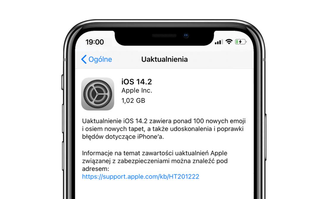 iOS 14.2 (uaktualnienie finalne w trybie OTA — iPhone)