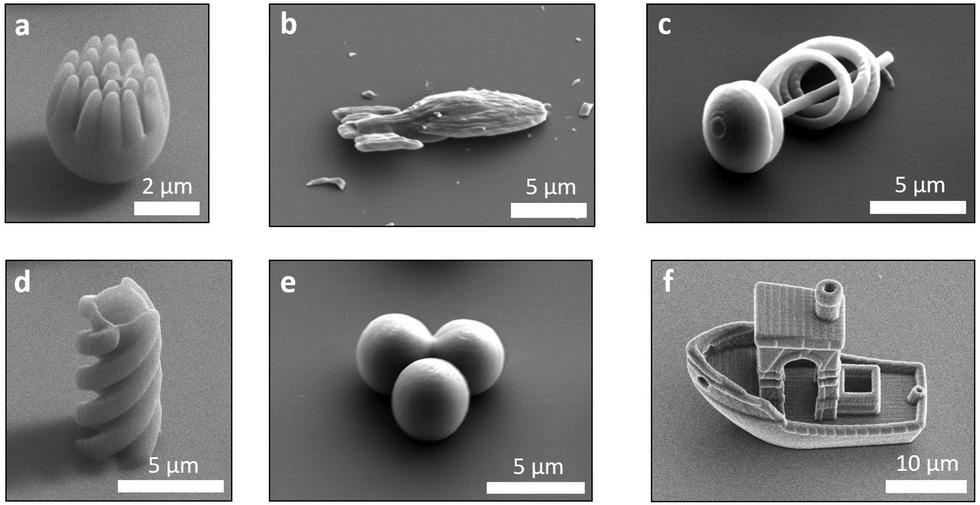 Mikropływające obiekty wydrukowane w 3D i napędzane cieczą