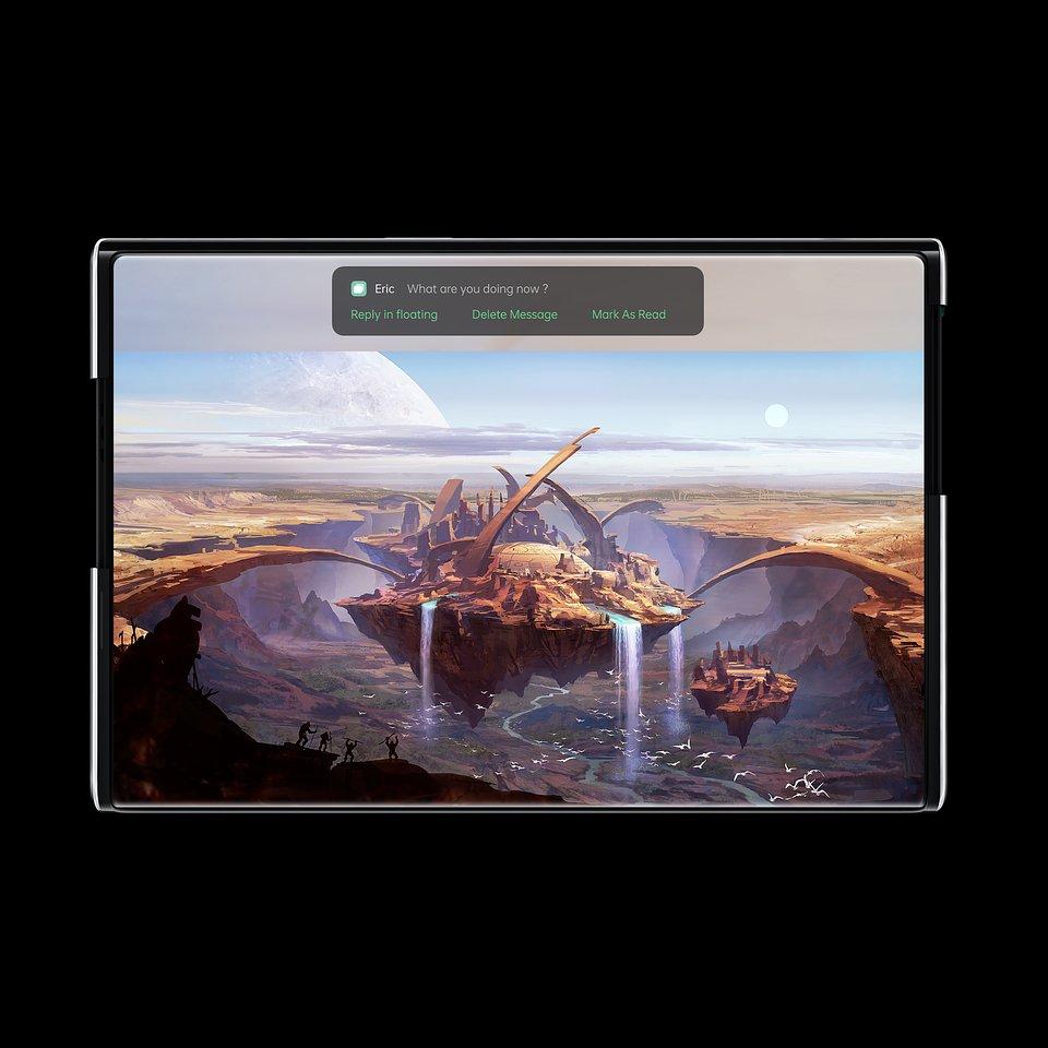 Rozwijany smartfon OPPO X 2021 (koncept)