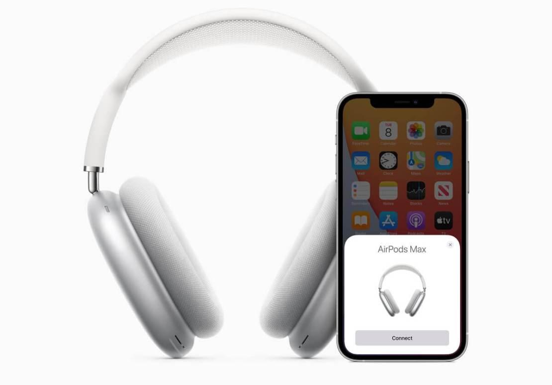 Parowanie słuchawek AirPods Max z iPhone'em