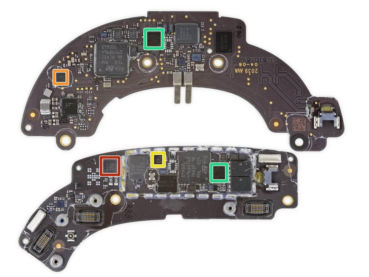 Zestaw chipów w słuchawkach AirPods Max
