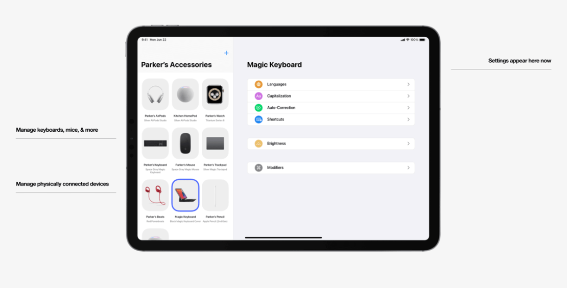 iPad - koncepcja aplikacji Akcesoria