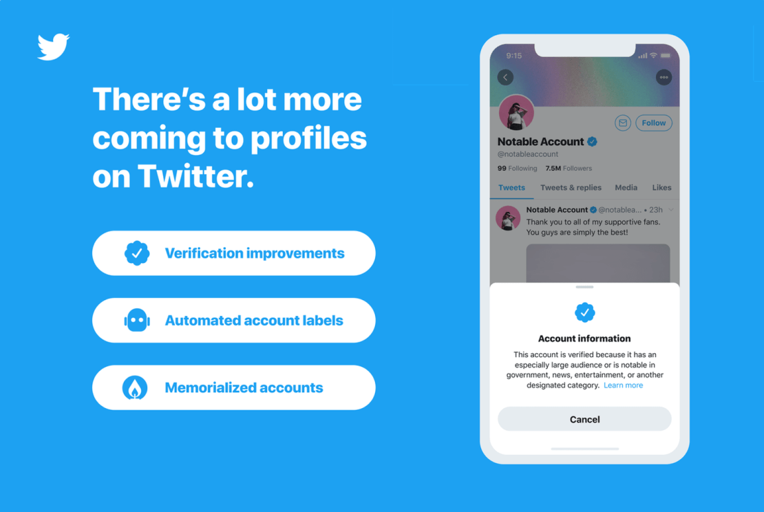 Nowy proces weryfikacji kont na Twitterze od 20 stycznia 2021 roku