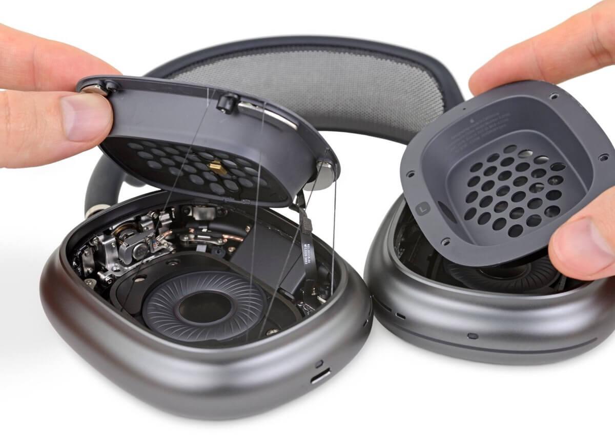Rozkręcone słuchawki AirPods Max