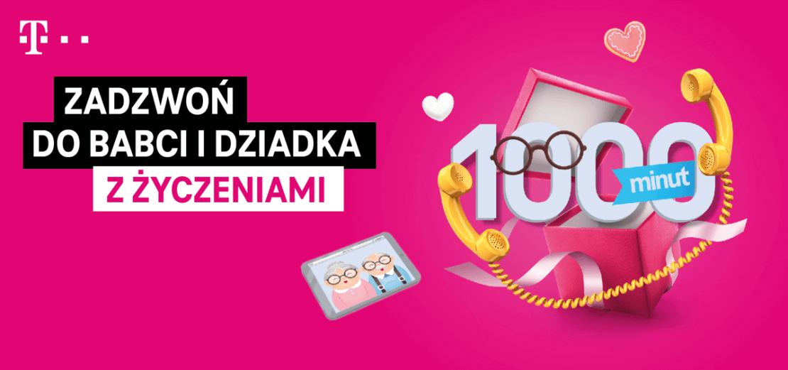 1000 darmowych minut na Dzień Babci i Dziadka od T-Mobile